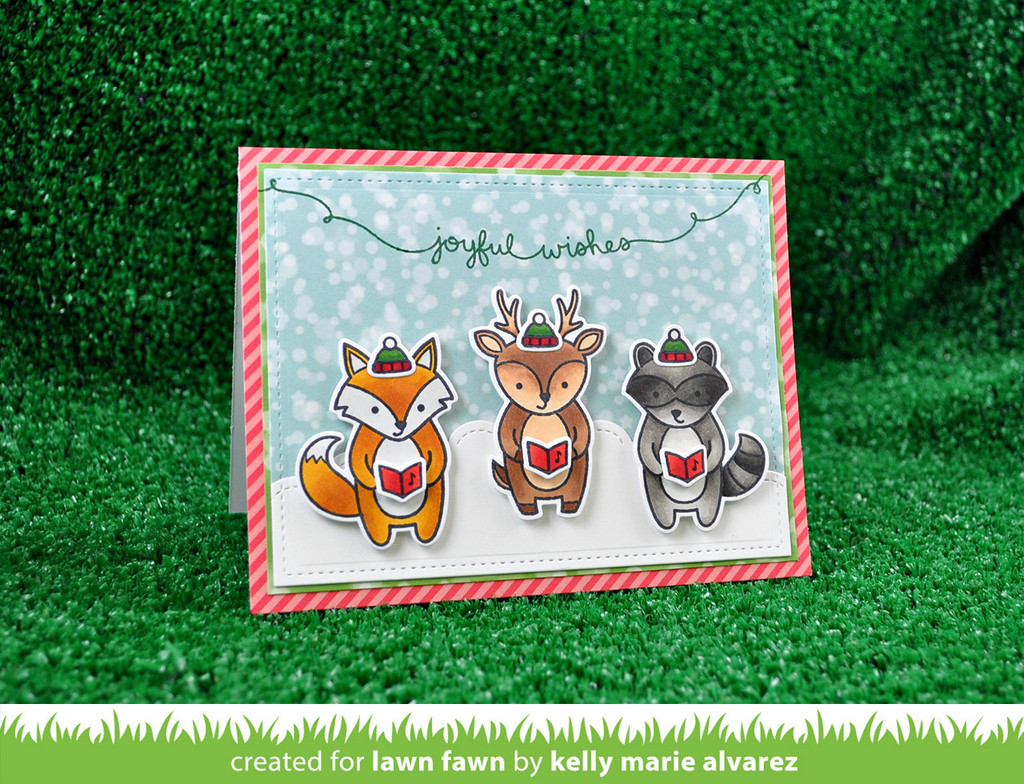 Lawn Fawn Clear Stamps Winter Scripty Sayings