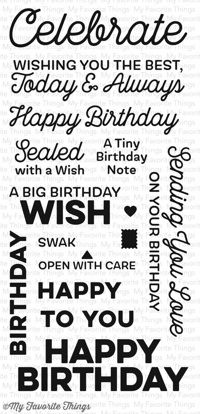 My Favorite Things Clear Stamp Big Birthday Wishes