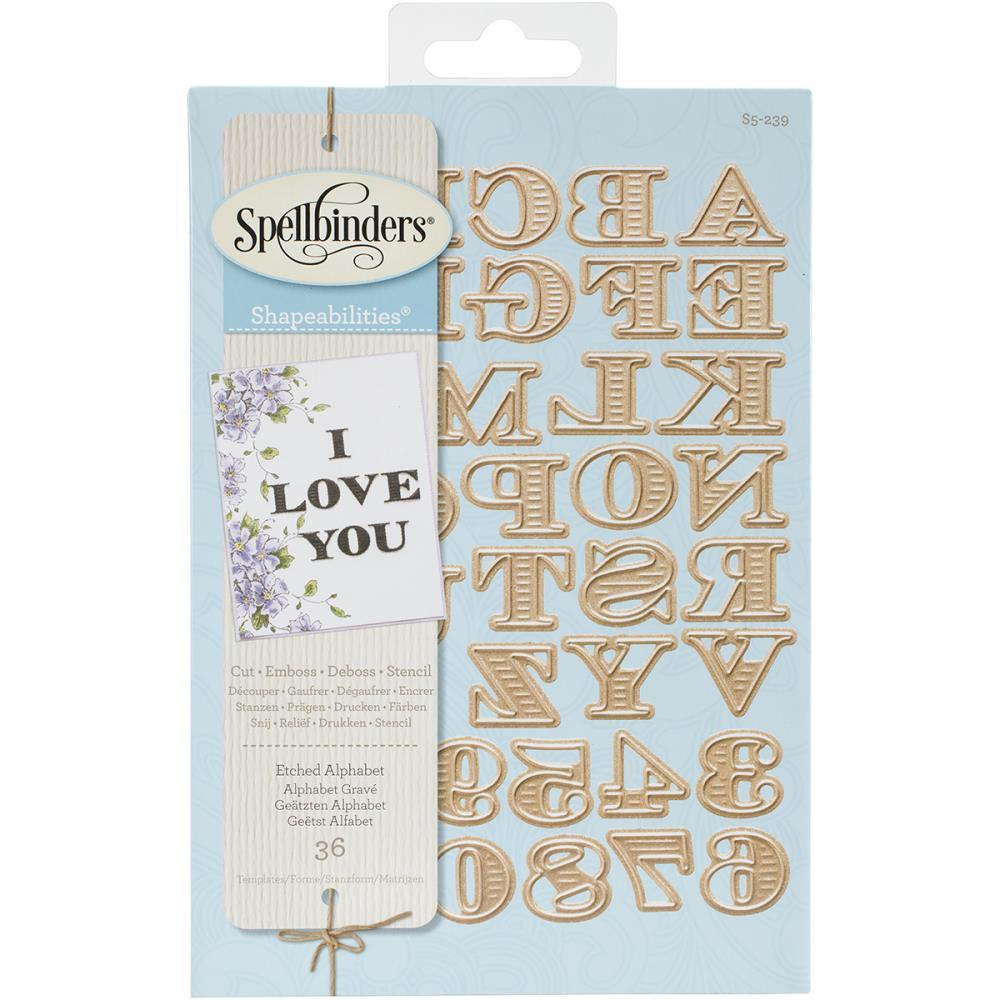 Image result for spellbinders etched alphabet dies