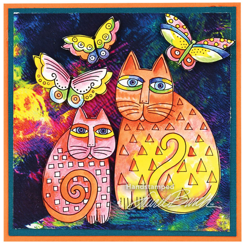 Stampendous Laurel Burch Indigo Cats Die Set