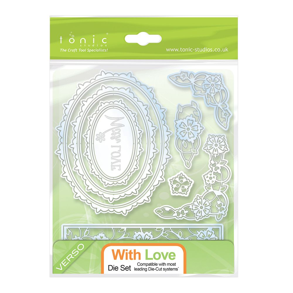 Tonic Studios Cutting Die With Love Essentials Die Set