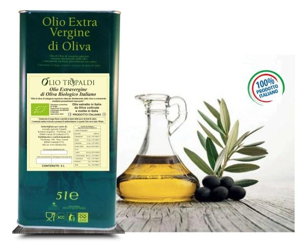 Olio Evo ExtraVergine di Oliva Biologico «Tripaldi» 5 Lt