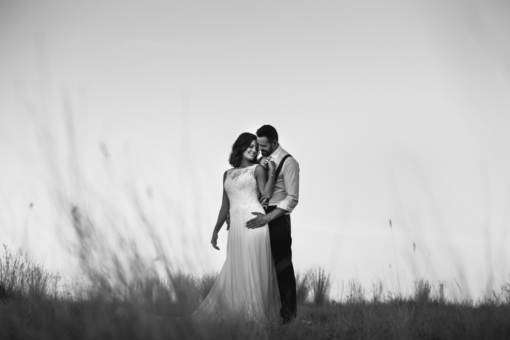 Boda Alcazar y La Bodega, en su postboda foto de pareja