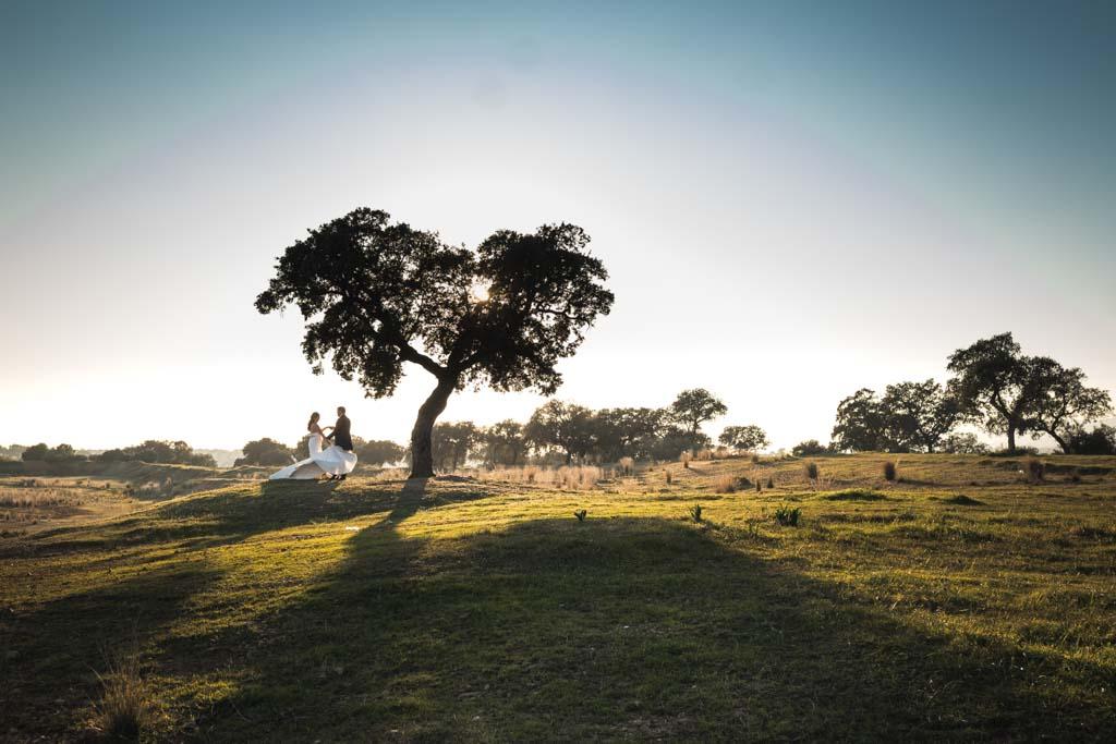 Boda en Montoro, panoramica en postboda