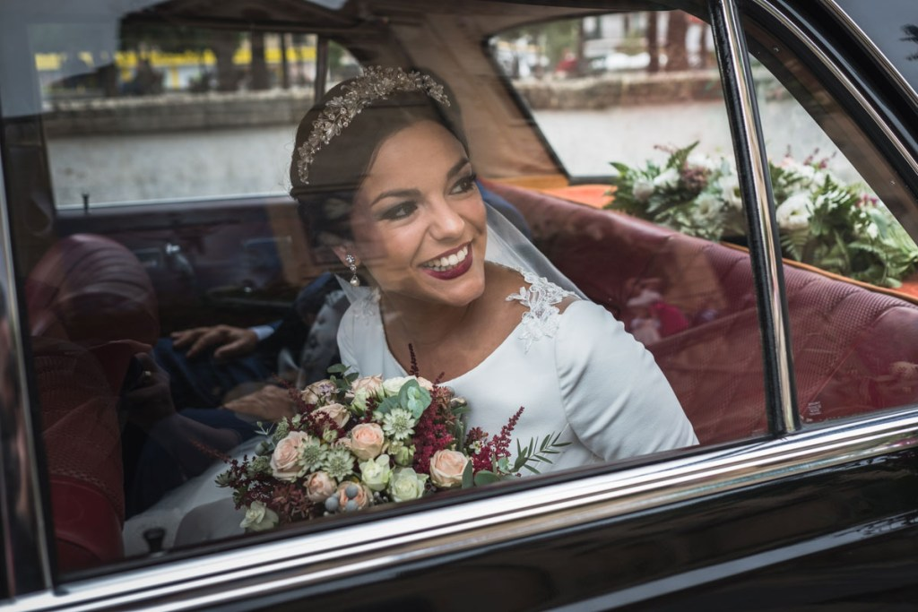 foto de la novia antes de boda