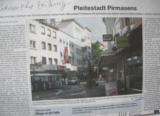 Pleitestadt Pirmasens
