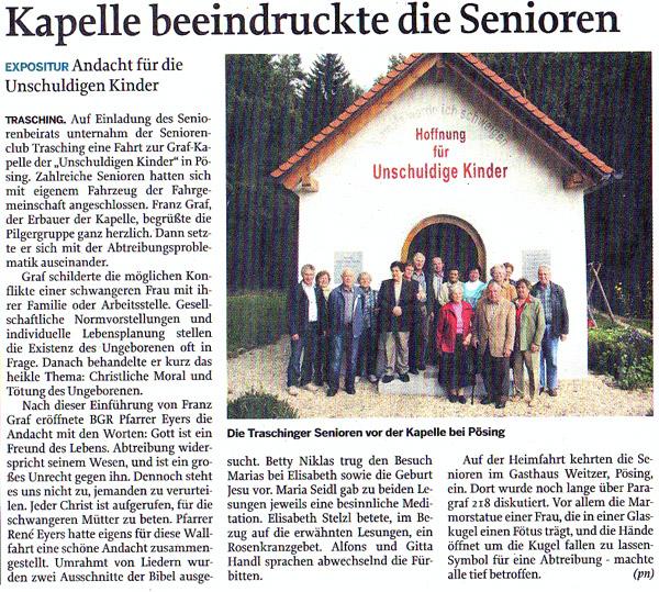 Kapelle beeindruckt Senioren 2010