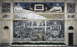 Die Südwand im Museum von Detroit.