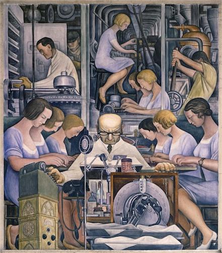 Das Bild aus dem Museum in Detroit.