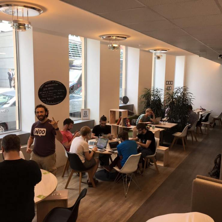 A12s, Humans and other WordPressers at Cocoquadrat (photo from https://www.facebook.com/cowork.coffee)