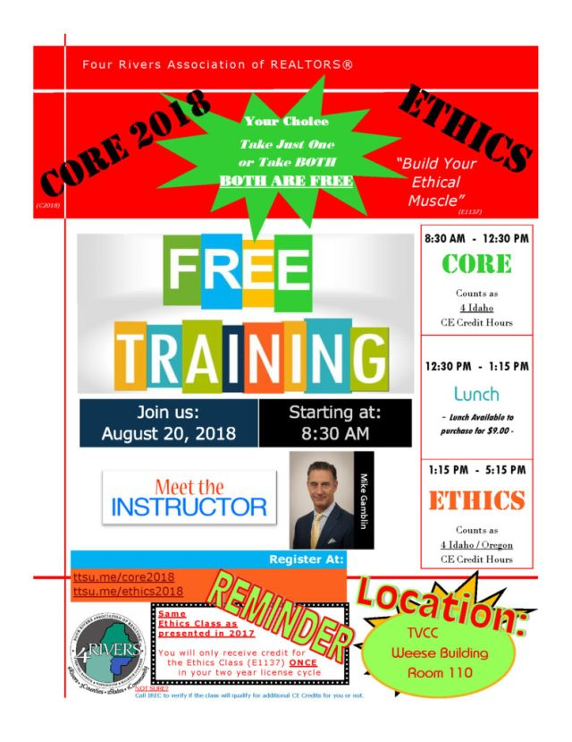 2018 CORE & Ethics Flyer