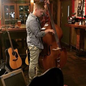 Nick Surte with his upright bass