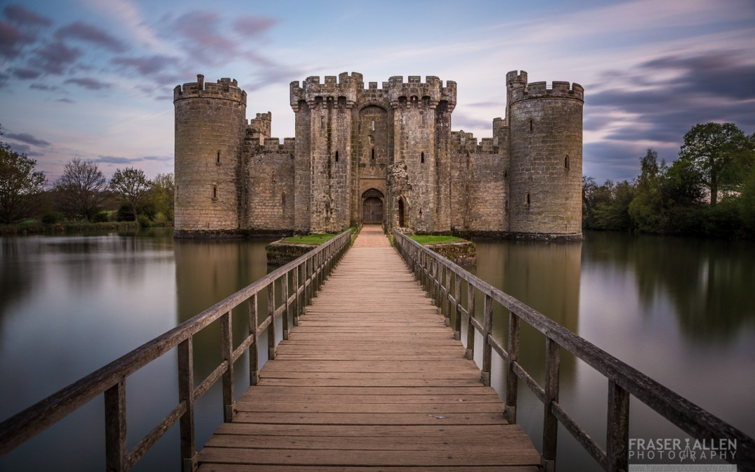 An evening walk at Bodiam Castle