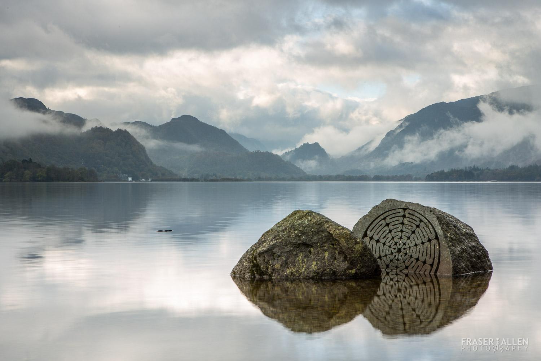 Millennium Stone on Derwent Water