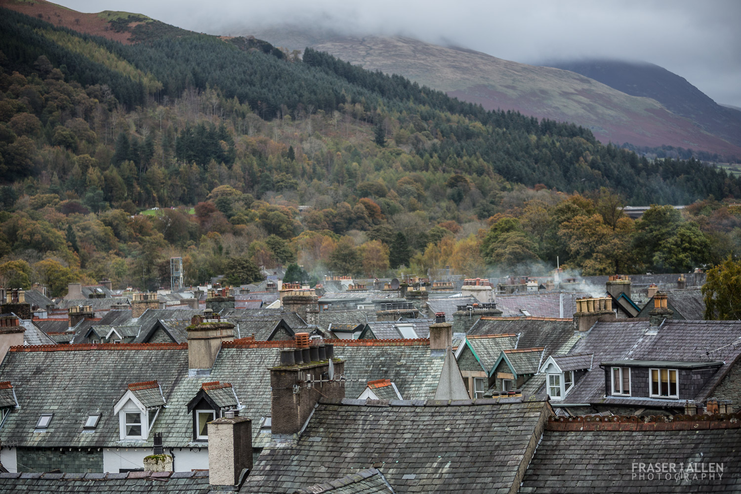 view over Keswick rooftops