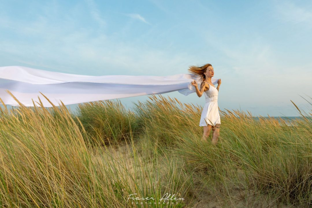 a windy day in the dunes