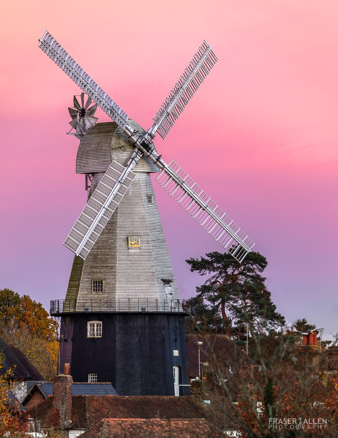 Cranbrook's Union Mill at sunset