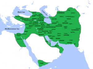 Map of Sassanian Empire