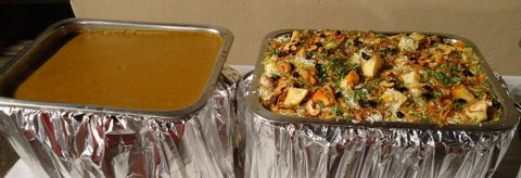 Veg Pulao and Dhansaak dal:  a great hit with repeat servings!