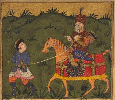 Rostam captures Oolad. Image courtesy Princeton Shah Nameh Project