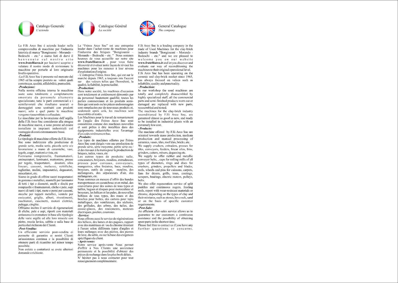 Catalogo F.LLI ARCO snc