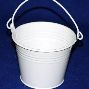 Secchiello latta bianco D16