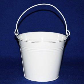 Secchiello latta bianco D14