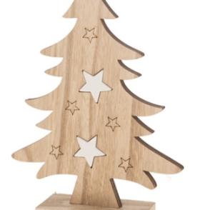 Albero di Natale in legno 17,8x5x24 cm – Natural White