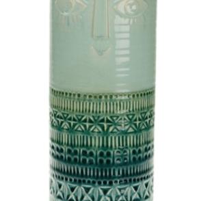 Vaso ceramica con viso 15x15x36 cm – verde