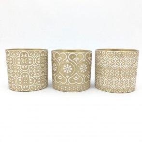 Caspo' decorati 3 design D13,5 H12,5 cm