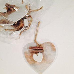Ciondolo cuore legno CM10 H20