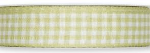 Nastro vichy quadri Verde chiaro 25mm