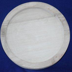 Vassoio rotondo in legno grigio