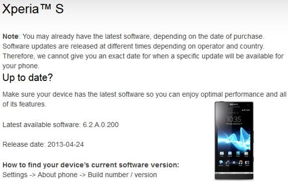 Android 4.1.2 Jelly Bean su Sony Xperia S