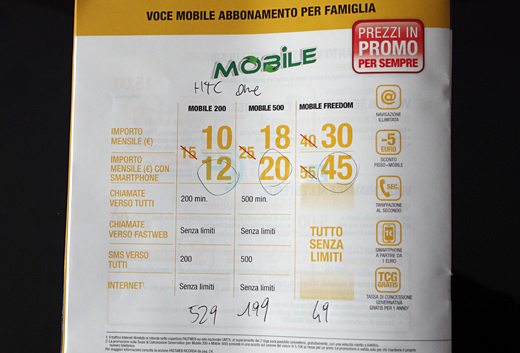 HTC One: Offerte abbonamento con Fastweb