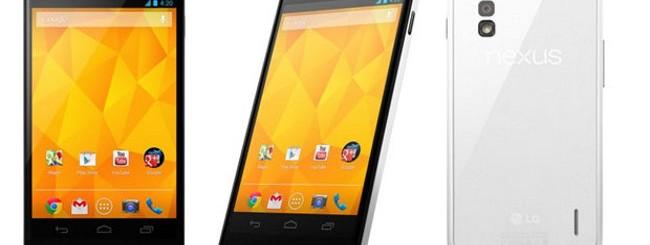 Nexus 4 bianco ufficiale: Uscita in Europa