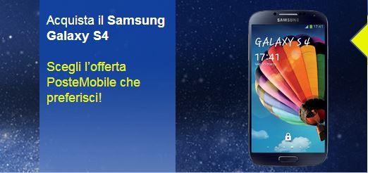 Samsung Galaxy S4 con PosteMobile: Offerte e prezzi