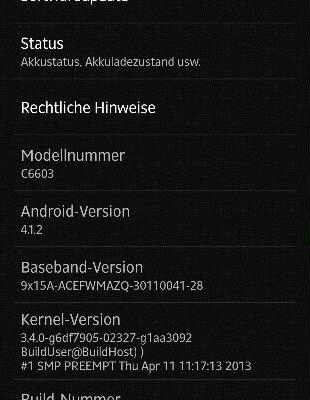Aggiornamento firmware 10.1.1.A.1.307 su Sony Xperia Z
