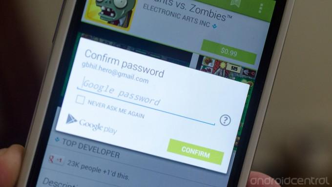 Proteggere download applicazioni Google Play Store con password