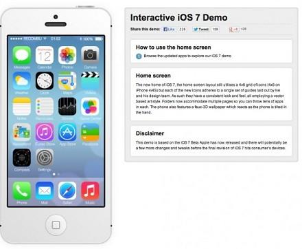 Provare iOS 7 online su iPhone 5 e 4S senza scaricare versione beta