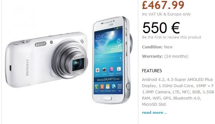 Samsung Galaxy S4 Zoom e Galaxy S4 Mini: Prezzi ipotizzati