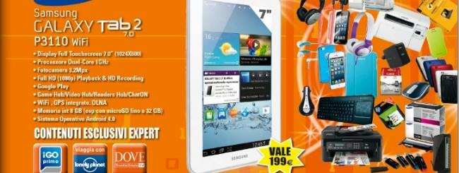 Samsung Galaxy Tab 2 7.0 in regalo da Expert