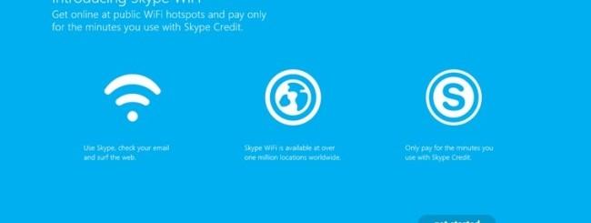 Skype WiFi per Windows 8