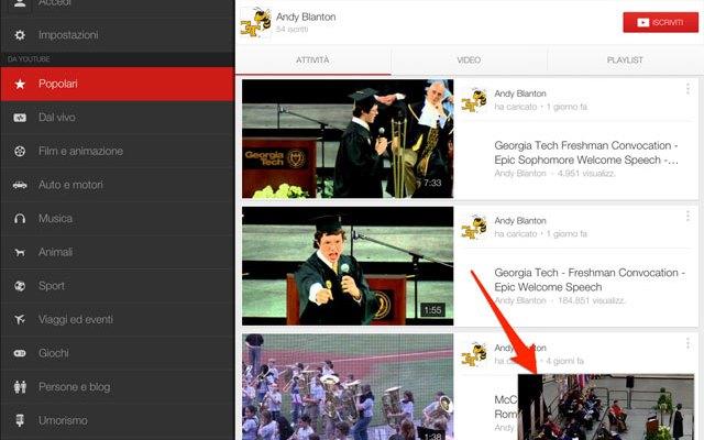 YouTube si aggiorna anche su iOS: Novità