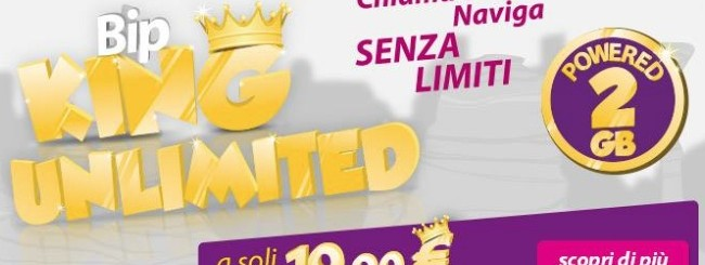 Bip King Unlimited: Chiamate illimitate e 2 GB Internet