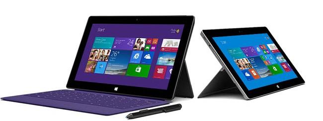 Confronto tra Microsoft Surface e Surface 2