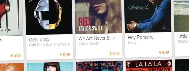 Google Play Musica: Comprare canzoni 0,49 euro
