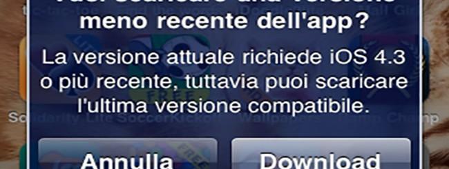 App Store: Download applicazioni per vecchi iPhone e iPad