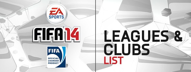 FIFA 14: Elenco di tutte le squadre