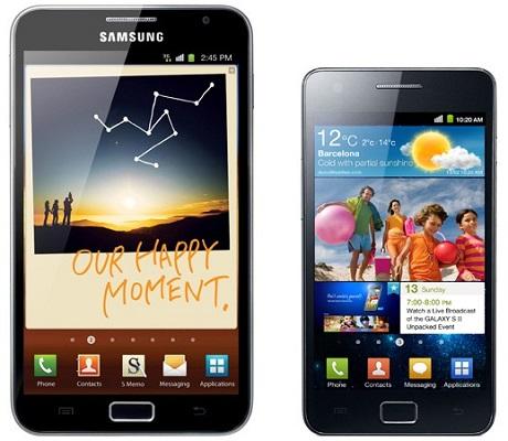 Samsung: Nessun aggiornamento per Galaxy S2 e Galaxy Note